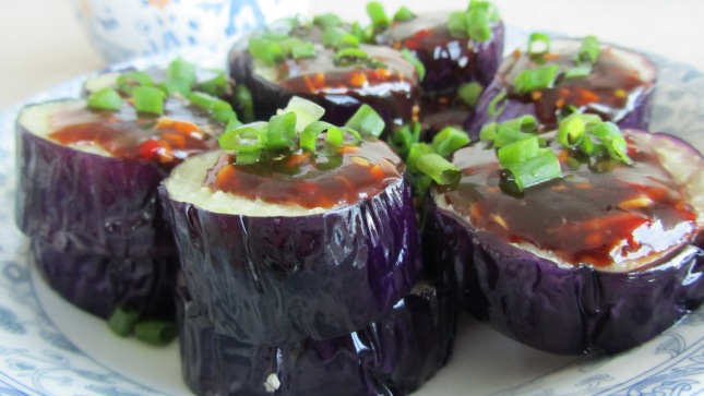 Asian eggplant with garlic oyster Sauce